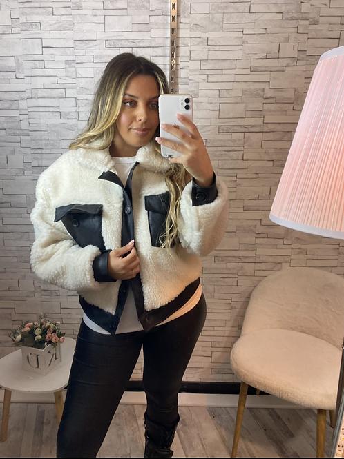Manteau Becky blanc