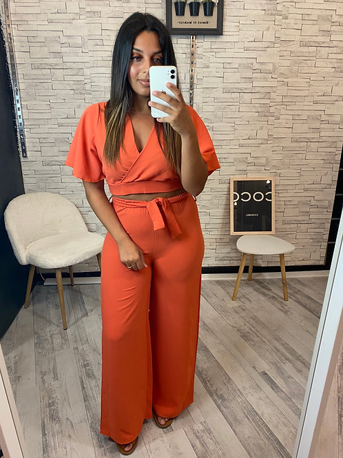 Ensemble Lalie orange