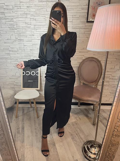 Robe Satinée Sarah noir