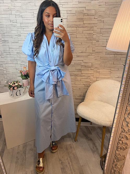 Robe Chloé à noeud bleu