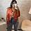 Thumbnail: Veste perfecto simili cuir rouge
