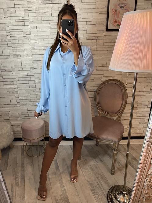 Robe chemise Manon bleu