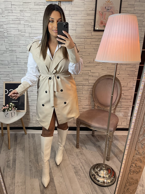 Robe chemise Irina beige