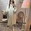 Thumbnail: Robe pull longue  gros col beige