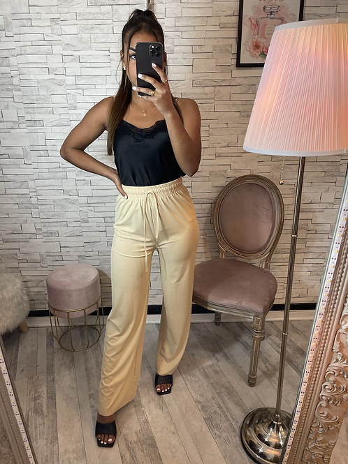 Pantalon ample beige