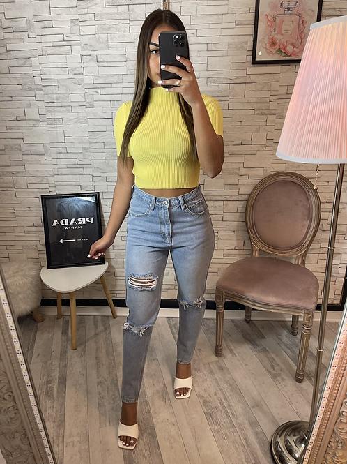 Top Ela jaune
