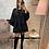 Thumbnail: Robe Poly noire avec ceinture