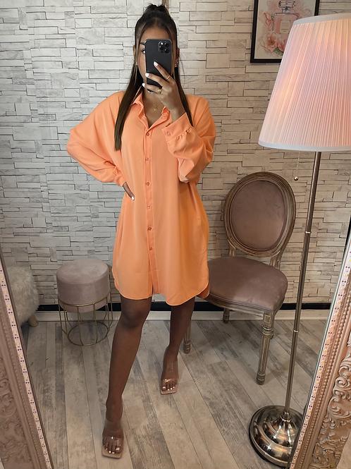 Robe chemise Manon orange