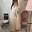 Thumbnail: Robe Chemise longue beige