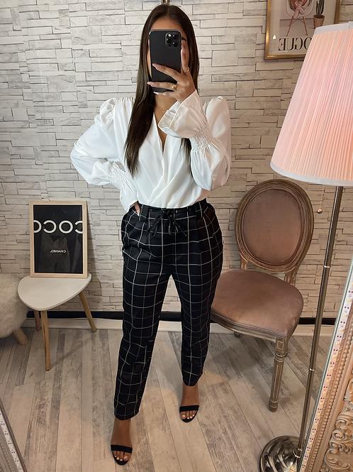 Pantalon à carreau noir
