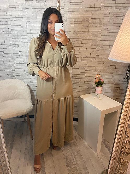 Robe Nina longue Camel