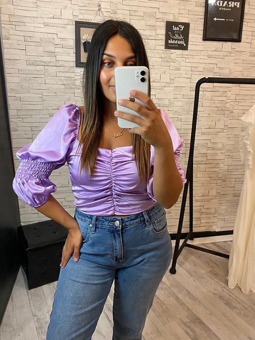 Top Katrina satiné violet