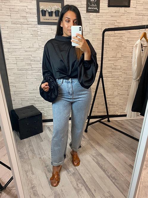 Jean taille haute coupe droite