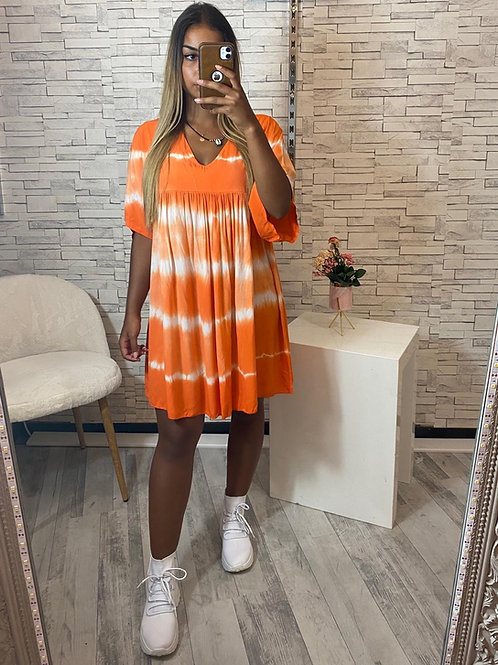 Robe Tie & Die Inna orange