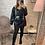 Thumbnail: Veste simili cuir à capuche grise