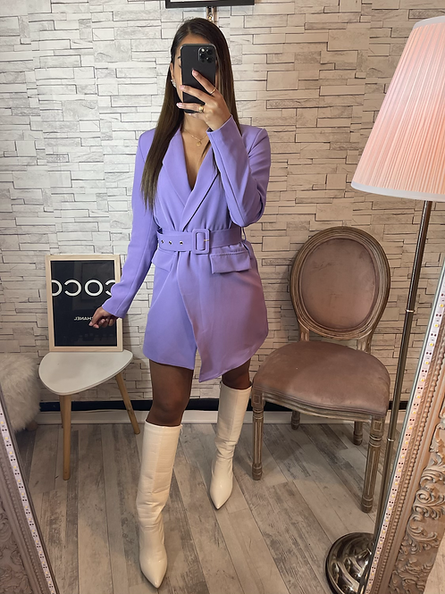 Blazer long Émilia violet