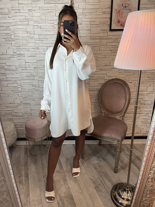 Robe chemise Manon blanc