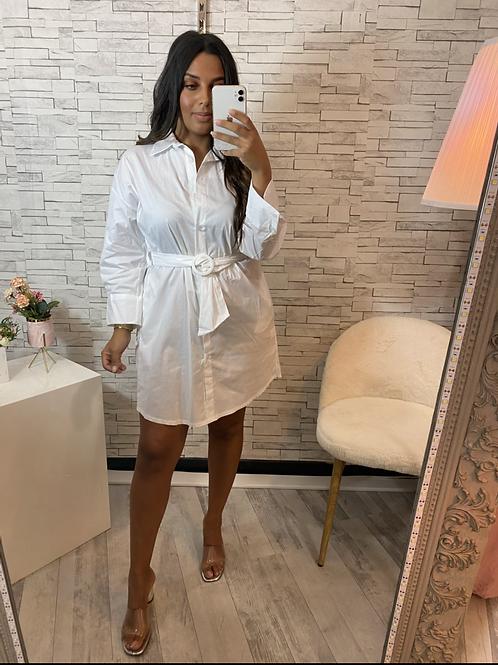 Robe chemise Pauline blanche