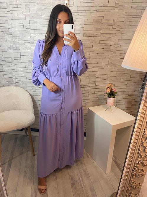 Robe Nina longue lilas