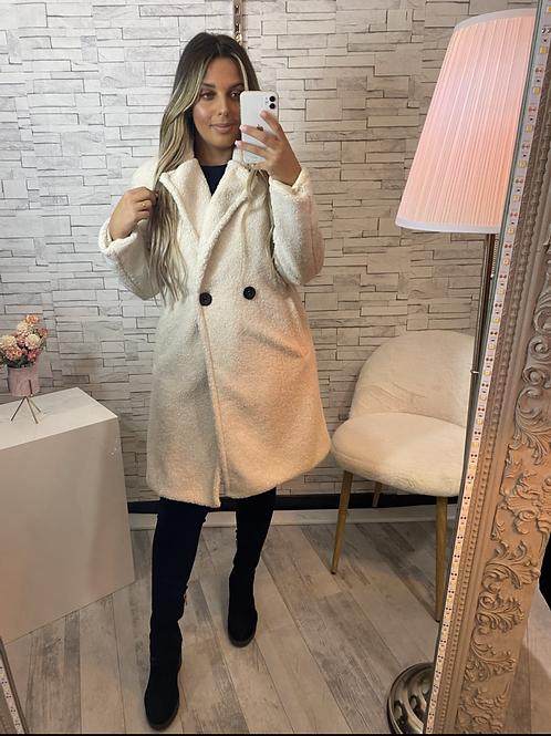 Manteau Beverly blanc beige