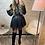 Thumbnail: Top  chemisier simili cuir kahina noir