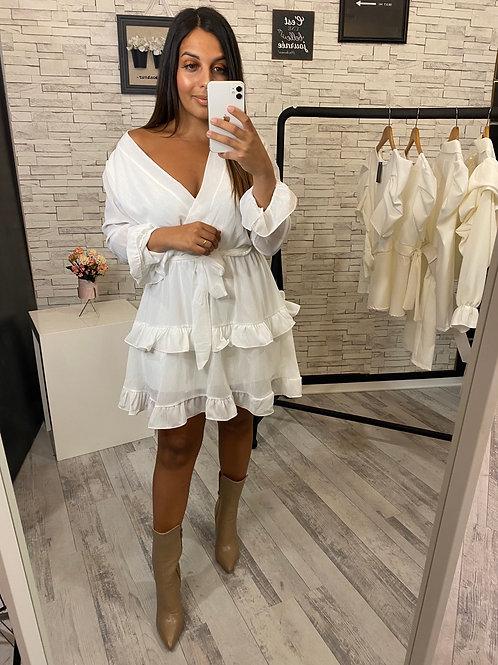 Robe Camélia blanc
