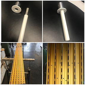 Anodised gold recessed slotted track & Powder coated spigot