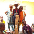 Talibé youth showing their building skills