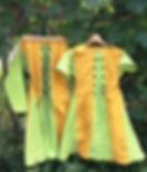 Leinenkleider K/A und L/A, Schnürung vorne