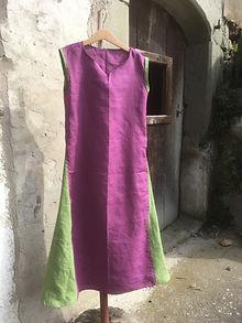 Ärmeloses Kleid aus reinem Leinen