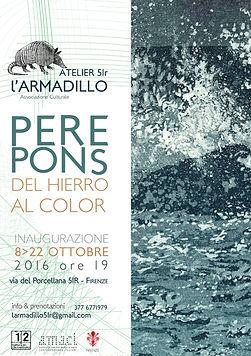 Locandina mostra di Pere Pons
