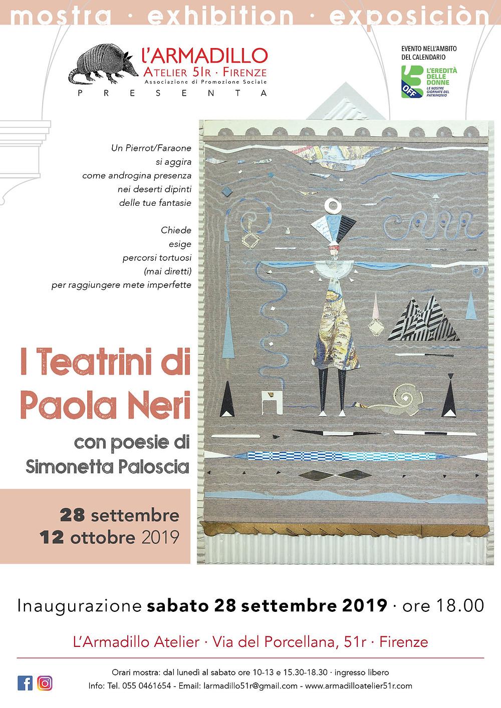 "Locandina mostra ""I Teatrini di Paola Neri"""