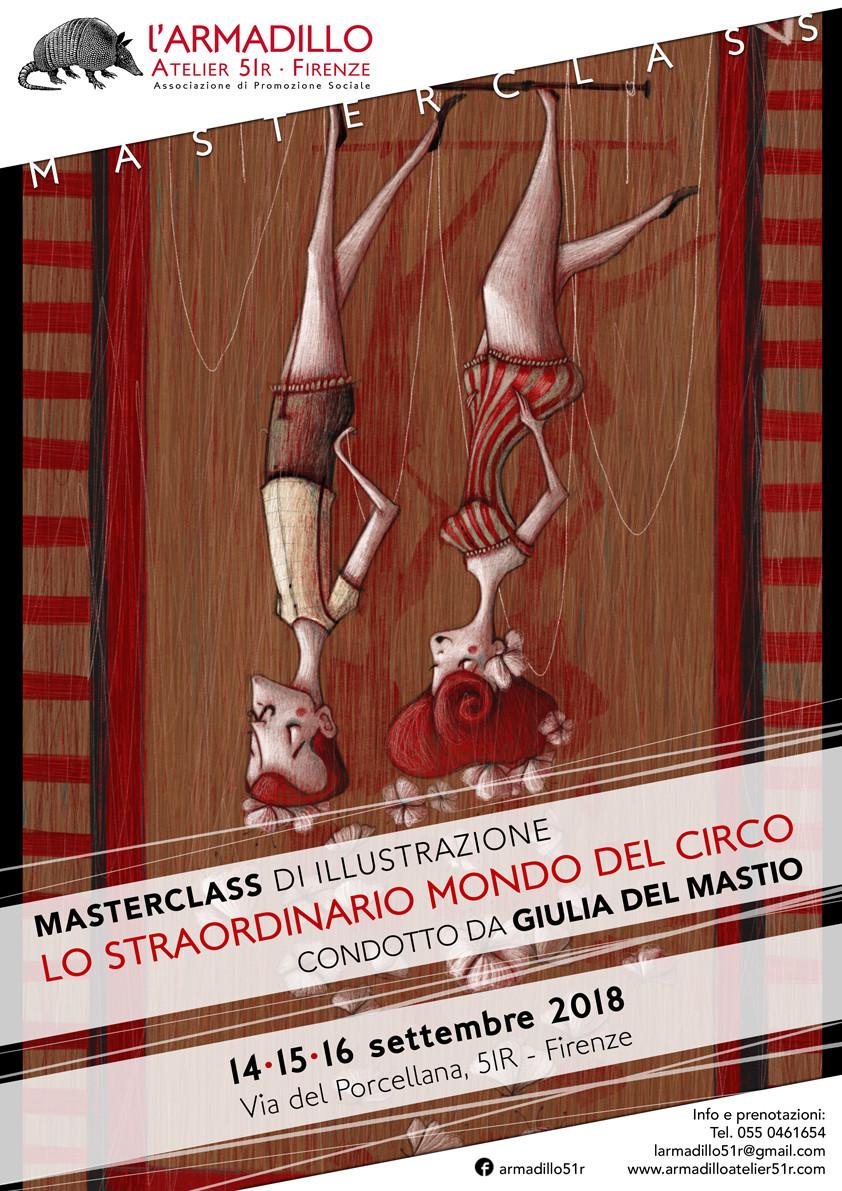 mostra illustrazione di Giulia Del Mastio all'associazione L'Armadillo a Firenze