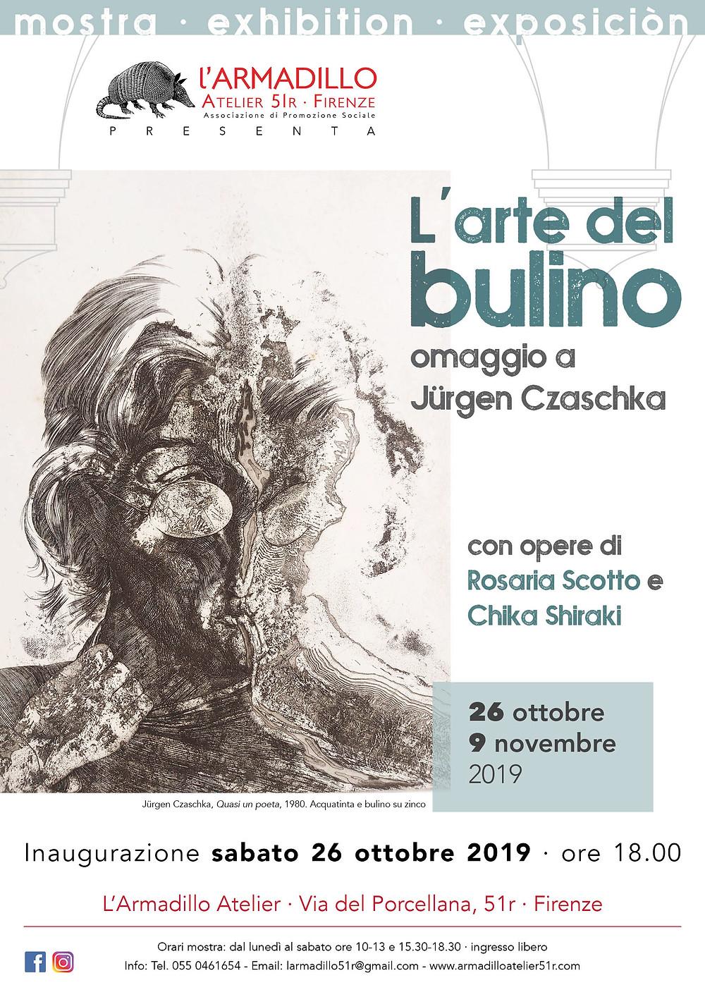 """Locandina mostra """"L'arte del Bulino"""""""