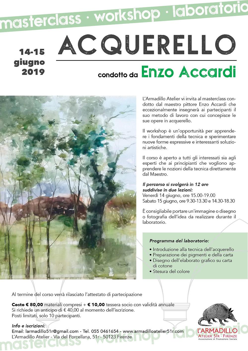 Masterclass di acquerello con Enzo Accardi