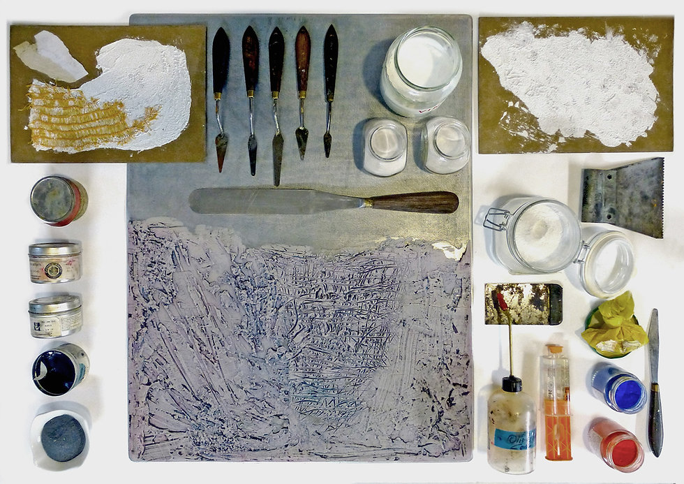 Strumenti per collografia dell'Armadillo Atelier