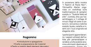 "Workshop ""Scatole fatte ad Arte"""