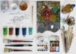 Strumenti per monotipo dell'Armadillo Atelier
