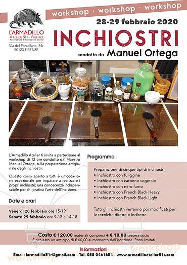 Workshop inchiostri con Manuel Ortega