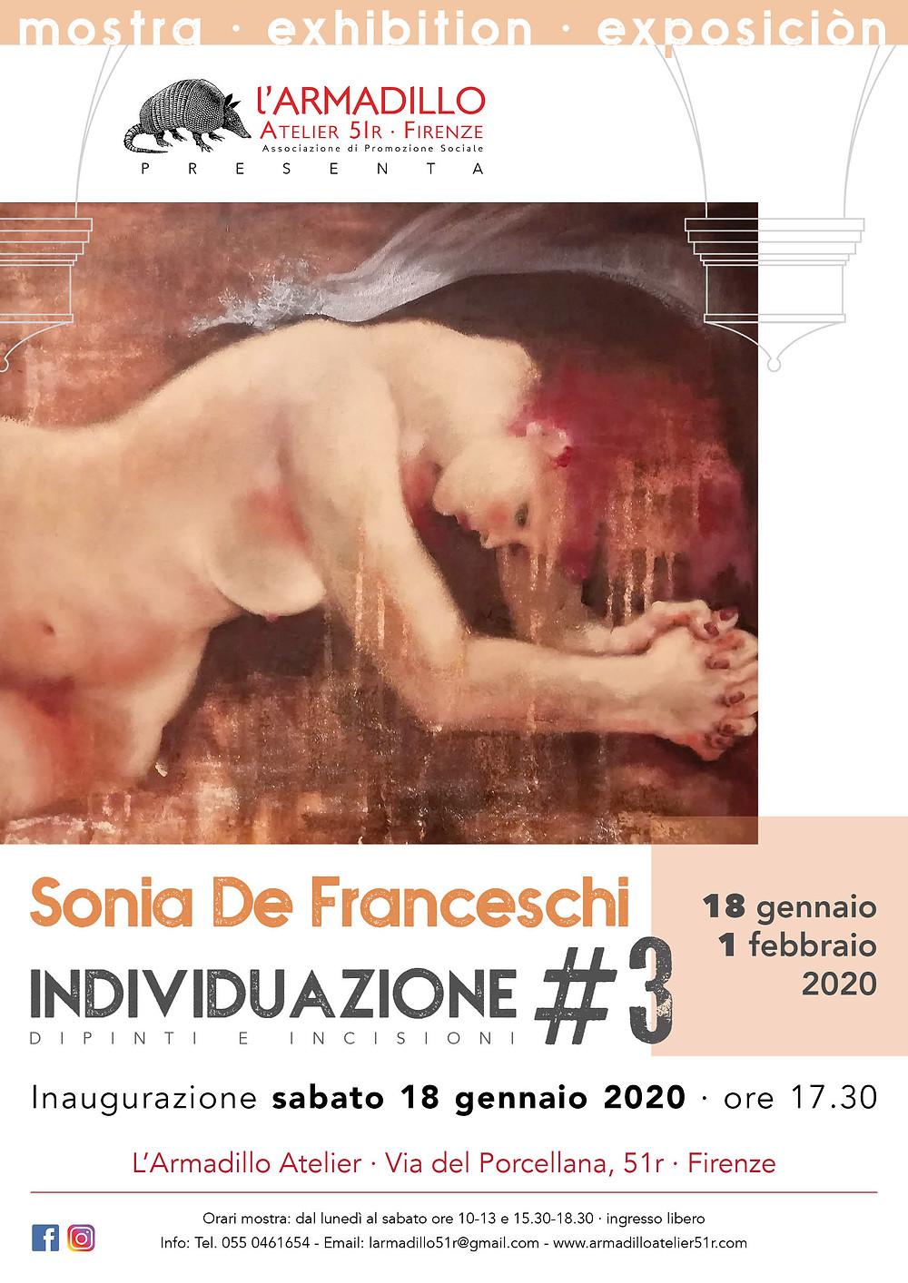 Locandina mostra di Sonia De Franceschi