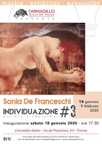 Locandina mostra Sonia De Franceschi