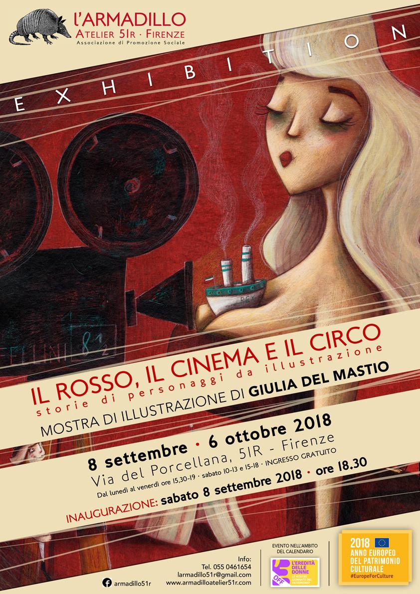 mostra illustrazione di Giulia Del Mastio presso l'associazione L'Armadillo a Firenze