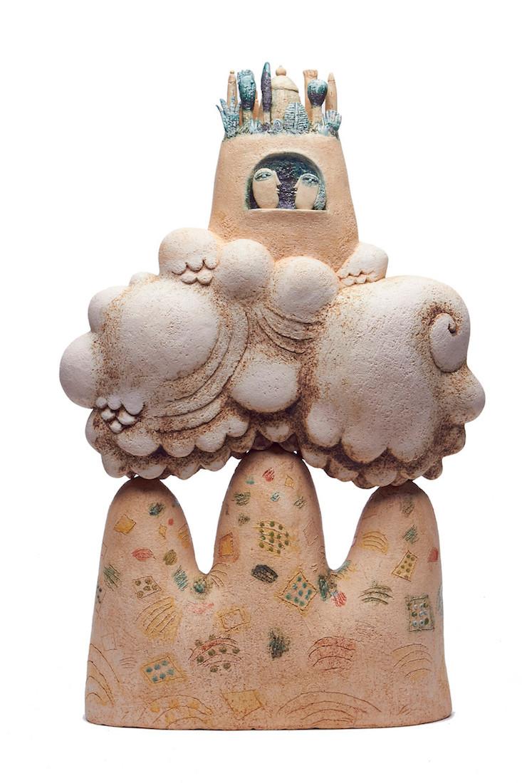 Scultura in ceramica di Michele Fabbricatore
