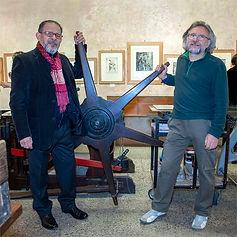 The masters Manuel Ortega and Gian Carlo Aiosa, founders of L'Armadillo