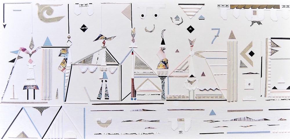 Pannello collage di Paola Neri