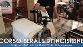Corso Serale di Incisione all'Armadillo