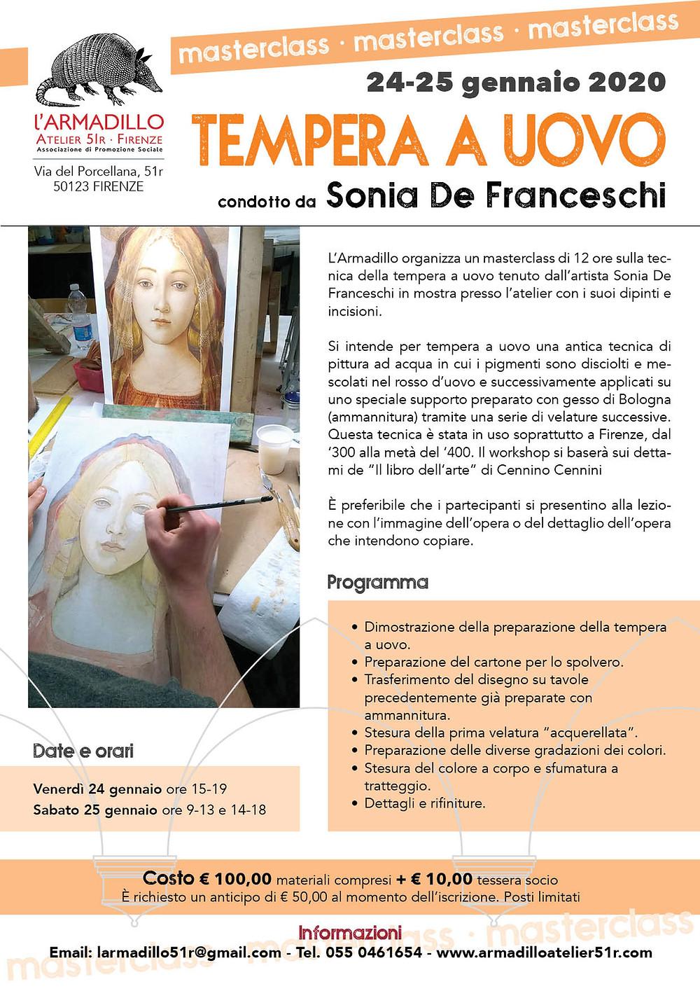 Masterclass sulla Tempera a uovo con Sonia De Franceschi