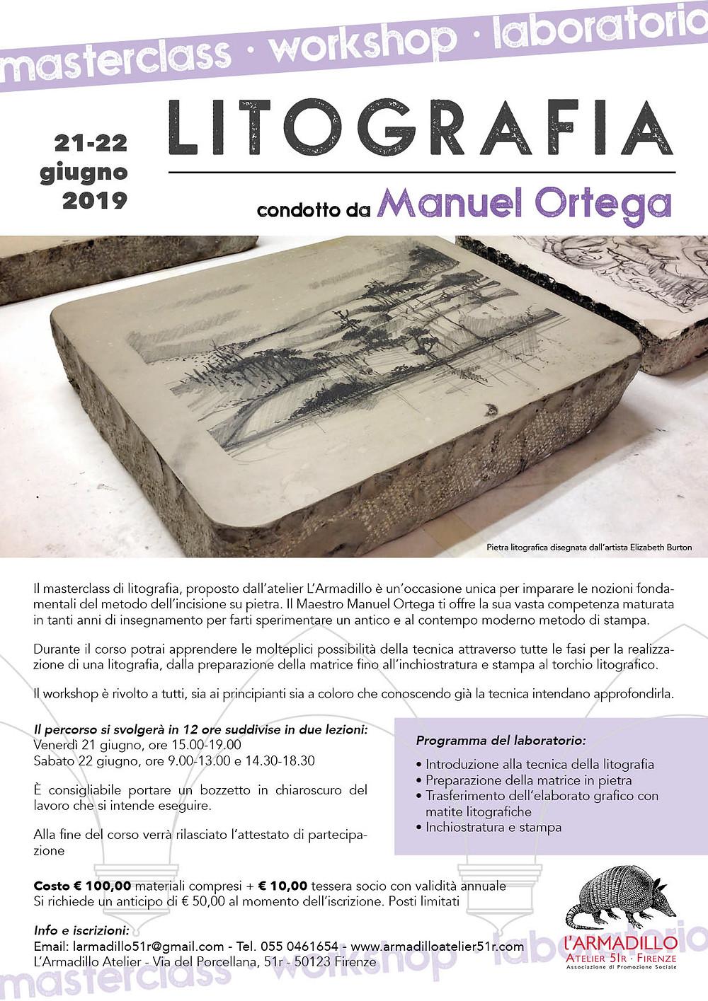 Masterclass di Litografia con Manuel Ortega