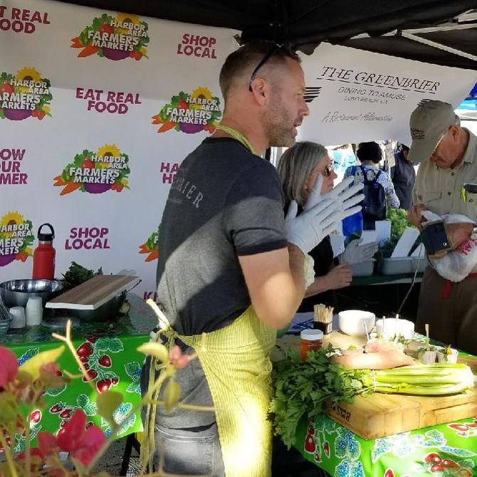 Chef Sean Demonstrates Seasonal Recipe at our Farmers' Market!