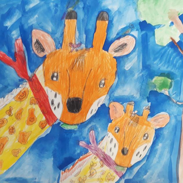 coloured pencil drawing class children.j